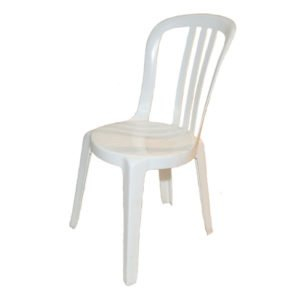 Miami Bistro White Plastic Chair