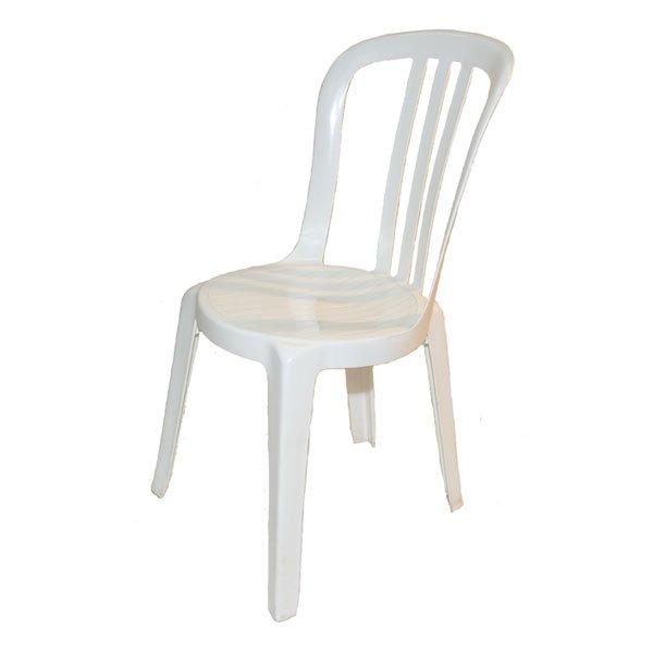 Miami Bistro White Plastic Chair